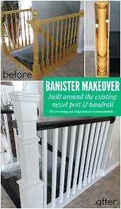 Stairway Banister Stair Railing Post Height Wood Fence Panels Installed On Round