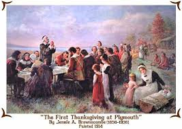 the thanksgiving at plymouth by jennie a brownscombe