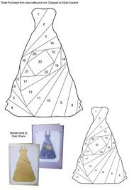 dress iris folding pattern cup243603 172 craftsuprint
