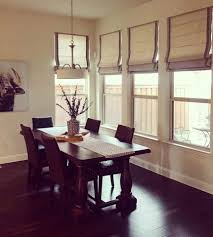 dinning dining room drapes blackout roman shades blackout roman