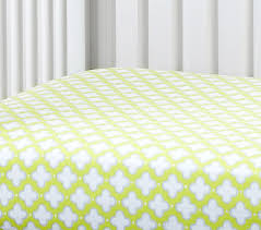 harper clover geo crib fitted sheet pottery barn kids
