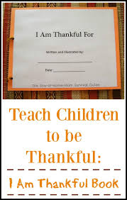 i am thankful book for children to make the stay at home