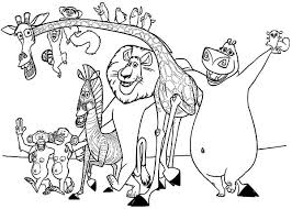 madagascar coloring pages madagascar 2 gloria alex dot to picture