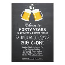 40th birthday invitation 40th birthday zazzle