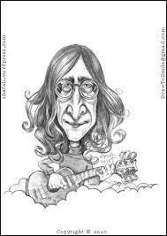caricature cartoon u2013 john lennon of the beatles shafali u0027s