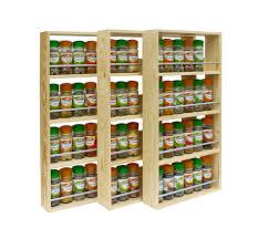 Kitchen Spice Rack Ideas Cabinet Wall Mounted Spice Shelves Best Spice Racks Ideas On