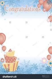 congratulation poster certificate congratulation poster kids stock vector 704239642