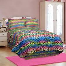 Leopard Bed Set Rainbow Animal Leopard Print Bedding Comforter Set