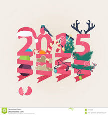 new years streamers 2015 new year card vector design stock vector image 42147566