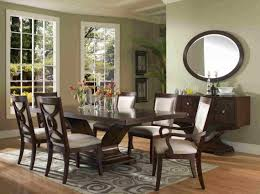formal dining room set with dark wooden table home interior