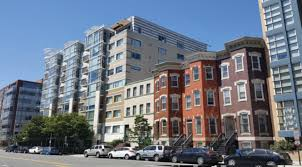 four story logan circle apartment building may be replaced with