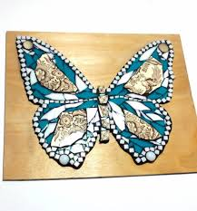 stained glass butterfly l butterfly mosaic art china and stained glass mixed media nature