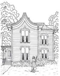 victorian house printable coloring book page a clapboard house
