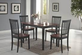 coaster 150153 oakdale two tone tobacco black 5 piece dining set