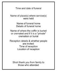 funeral programs wording the other side of funerals an order of service