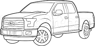 Old Ford Truck Games - how to draw an f 150 ford pickup truck step by step trucks