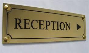 plaque de bureau personnalisé panneau directionnel en laiton avec texte gravé personnalisé h 80