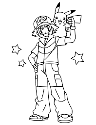 coloring pages delightful pokemon coloring pages ash free