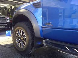 ford raptor logo pdp contour fox logo mud flaps installed pics ford raptor