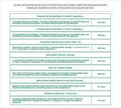 job sheet template free download sample job sheet template 7 free