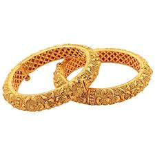buy new amrit 1 gram gold plated bangles 1 pair at low