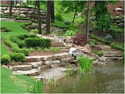 small sloped backyard ideas landscaping ideas for hillside