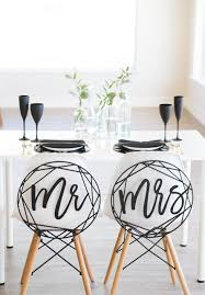 and groom chair online shop and groom chair signs mr and mrs black acrylic