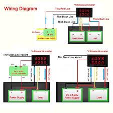 Led 110v Wiring Diagram Riorand Ac 80 300v 50a 110v 220v Digital Led Amp Volt Meter