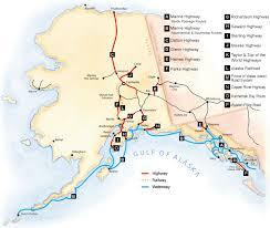 alaska major cities map by road alaska centers