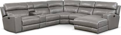 newport 6 piece power reclining sectional with right facing chaise