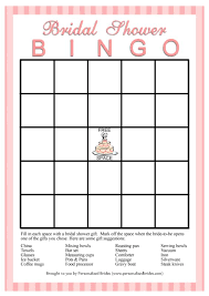 Bridal Shower Gift Card 11 Free Printable Bridal Showers Bingo Cards