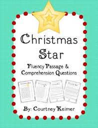 free christmas fluency passage and comprehension questions by
