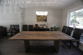 Dining Room Furniture Mississauga Reclaimed Wood Table With No Epoxy For A Customer In Mississauga