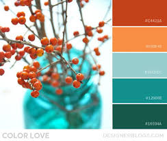 gorgeous colorpalette color love orange and teal http