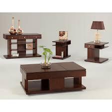 progressive daytona double lift top coffee table in regal walnut