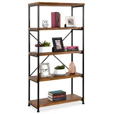 what of wood is best for shelves best choice products 5 tier rustic industrial bookshelf