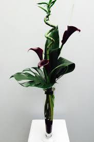 black calla contemporary black calla vase