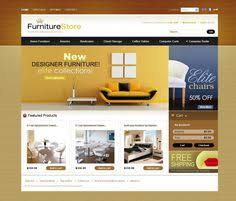 home interior website decoration modern furniture website front page screen grab
