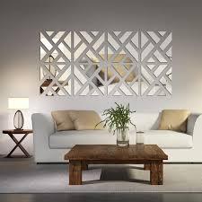 mirrored home decor mirrored chevron print wall decoration