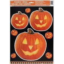 pumpkin glow halloween window decals walmart com