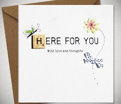 sympathy card here for you and thoughts contemporary sympathy card 3 45