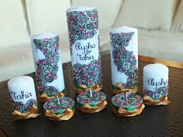 bougie hennã mariage items similar to painted henna inspired wedding candle set