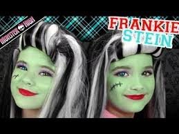 frankie stein monster high costume makeup tutorial for kittiesmama bratayley