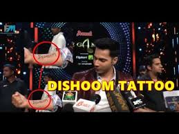 shocking varun dhawan tattoos dishoom on his hand youtube