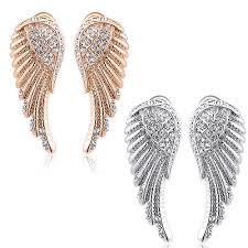 angel wing earrings 14k gold angel wing earrings studs price 9 97 free shipping
