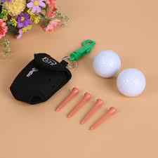 online shop mini portable clip on golf ball holder pouch bag with