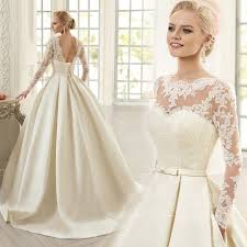 aliexpress com buy 2017 lace bride ball gown sweep train latest