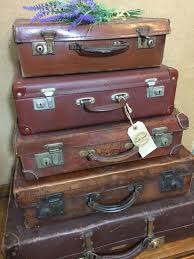 vintage brown suitcases tan vintage luggage vintage home decor
