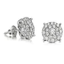 illusion earrings diamond diamond micro pave illusion setting earring buy diamond