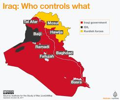map of irak iraq war map who controls what al jazeera